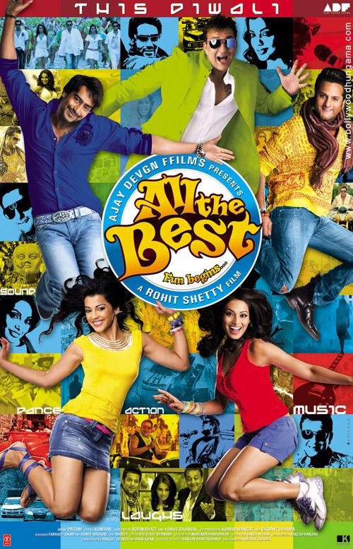 All The Best, Ajay Devgan,Bipasha Basu,Fardeen Khan,Sanjay Dutt,Mugdha Godse,Asrani