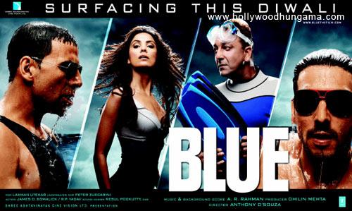 Blue, Sanjay Dutt,Akshay Kumar,Katrina Kaif,Lara Dutta,Rahul Dev,Kabir Bedi,Kylie Minogue