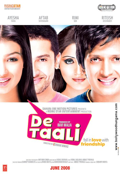 De Taali (2008) SL DM - Aaftab Shivdasani, Ayesha Takia, Ritesh Deshmukh, Rimi Sen, Satish Shah, Saurabh Shukla