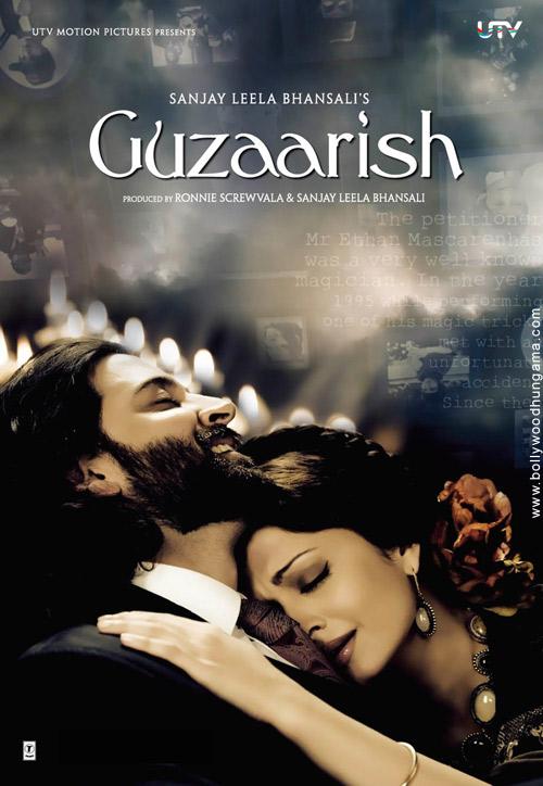 Guzaarish, Hrithik Roshan,Aishwarya Rai,Aditya Roy Kapoor,Monikangana Dutta
