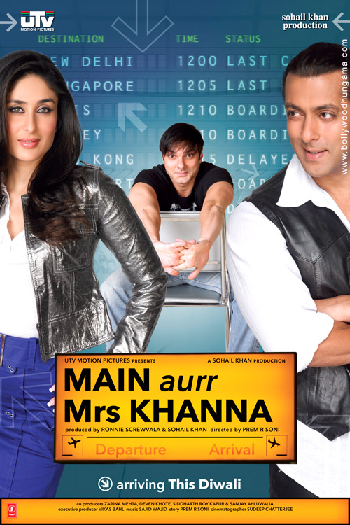 Main Aurr Mrs Khanna, Salman Khan,Kareena Kapoor,Sohail Khan,Govinda,Preity Zinta,Sajid (2),Bappi Lahiri