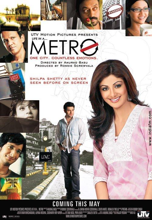 Life in a... Metro, Shiny Ahuja, Shilpa Shetty, Kay Kay Menon, Sharman Joshi, Gautam Kapoor, Konkona Sen Sharma, Kangna Ranaut, Irrfan Khan, Dharmendra, Nafisa Ali