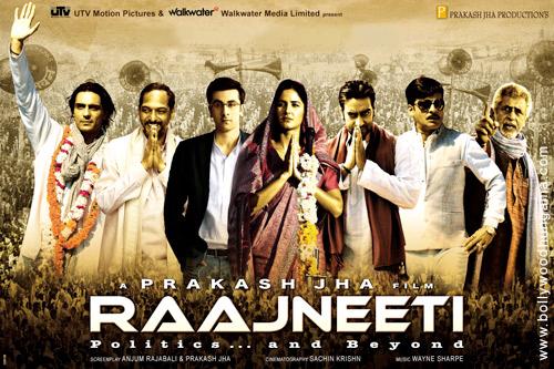 Raajneeti, Nana Patekar,Ajay Devgan,Ranbir Kapoor,Katrina Kaif,Manoj Bajpai,Arjun Rampal