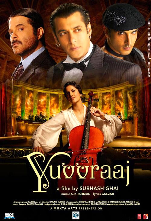 Yuvvraaj, Salman Khan,Anil Kapoor,Katrina Kaif,Zayed Khan,Boman Irani,Aushima Sawhney