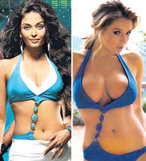 Aishwarya Rai in Dhoom 2 and UK model Keeley Hazell