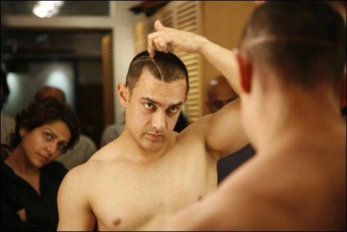 The hour and a half long hair-cutting session is done, but Aamir is making