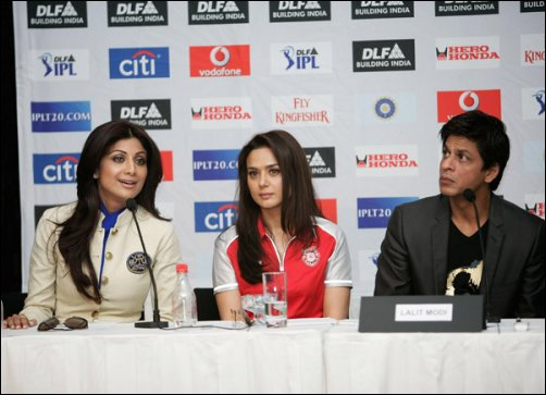 It's Even-Stevens for SRK, Preity and Shilpa after Round 1 of IPL 2009