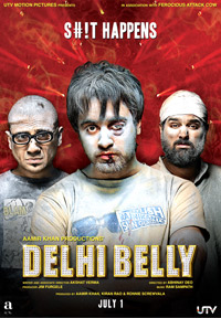 Delhi Belly (2011) DVD - Imran Khan, Kunaal Roy Kapur, Poorna Jagannathan, Vir Das and Shenaz Treasurywala.