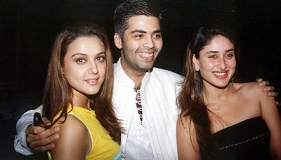 Preity , Kareena at the launch of Maya, Preity Zinta, Karan Johar, Kareena Kapoor