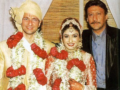 Stills from Raveenas Wedding, Anil Thadani, Raveena Tandon , Jackie Shroff