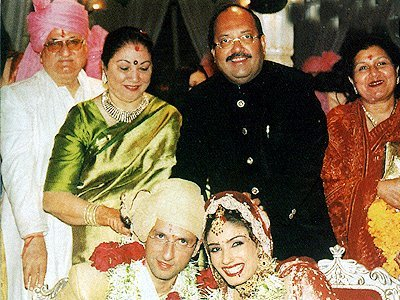 Stills from Raveenas Wedding, Anil, Raveena , Amar Singh