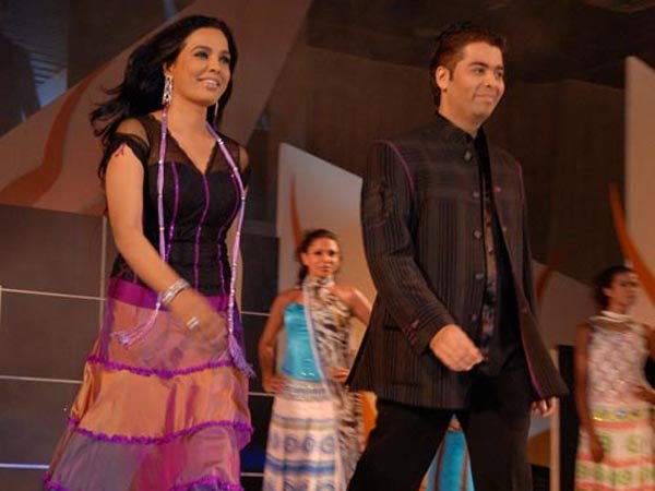 IIFA Awards 2006 - Day 3, Sunita Menon and Karan Johar walk the ramp for charity