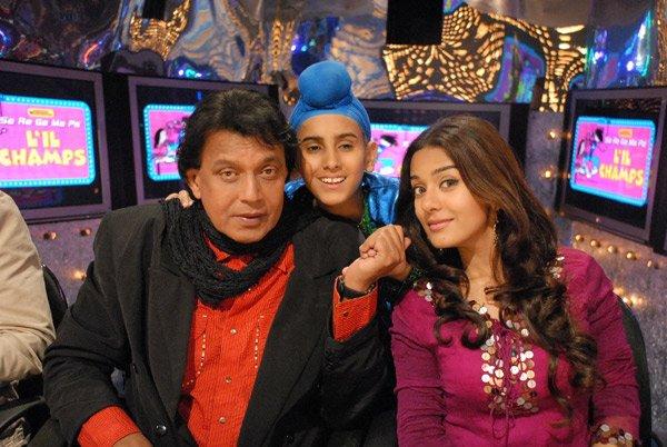 Mithun Chakraborty on Zee L'll Champs , Mithun Chakraborty, Rohan, Amrita Rao
