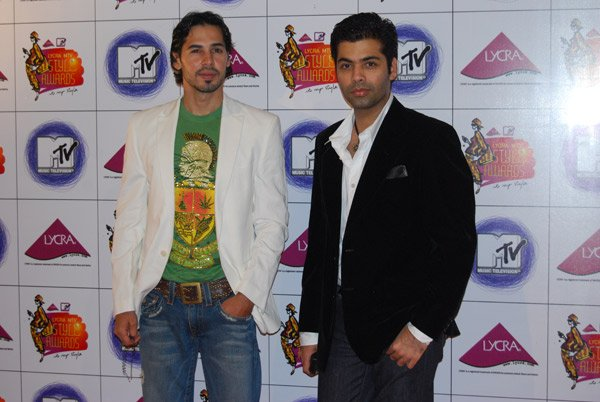 Shah Rukh, Deepika and Hrithik at Lycra MTV Style Awards 2007, Dino Morea, Karan Johar