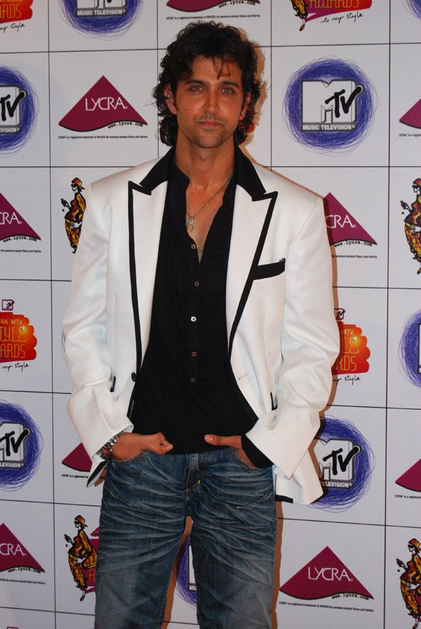 Shah Rukh, Deepika and Hrithik at Lycra MTV Style Awards 2007, Hrithik Roshan