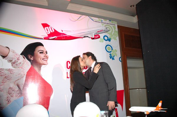 Go Air announces Preity Zinta as Brand Ambassador, Preity Zinta, Vijay Jehwadia