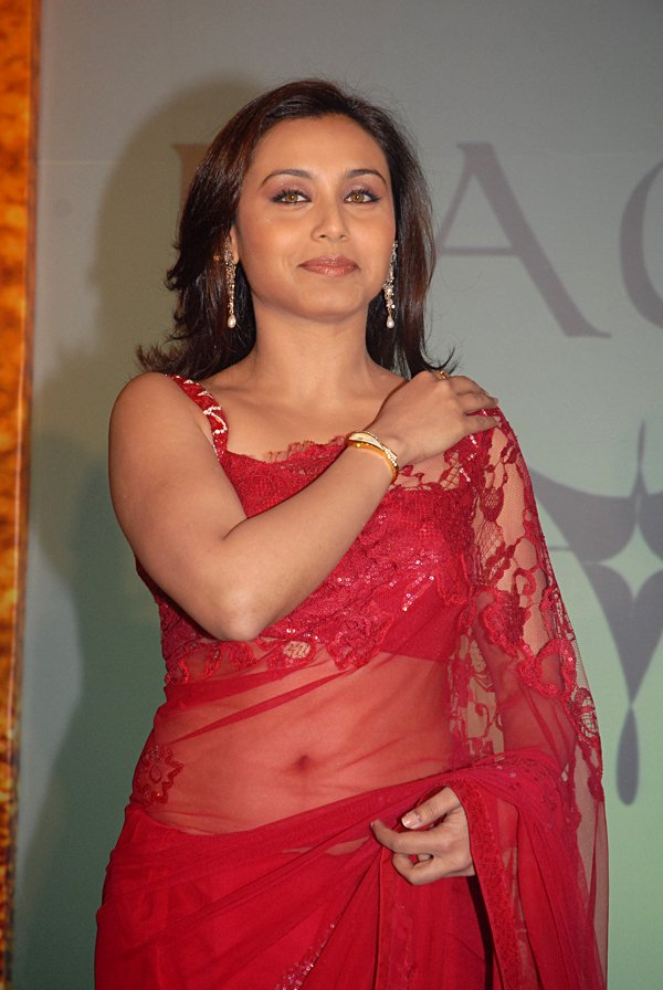 still6 RANI Mukherjee Launchin new Titan Watches In Sizzling Red Saree gallery actresses
