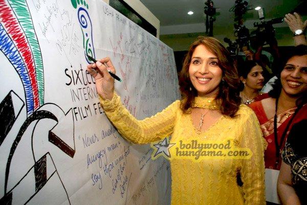 still1 - Madhuri Dixit nd Imran Khan @ college film fe