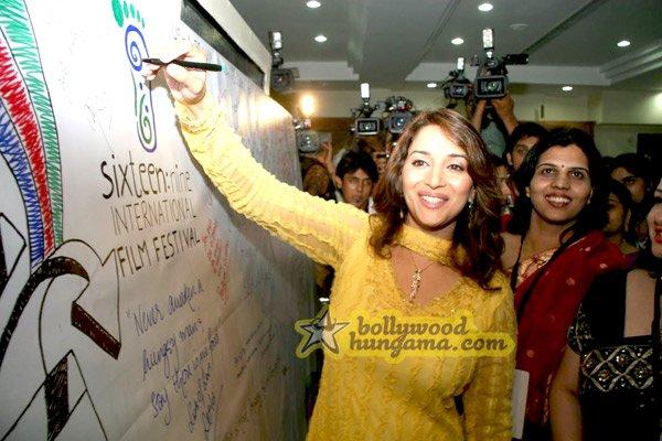 still3 - Madhuri Dixit nd Imran Khan @ college film fe