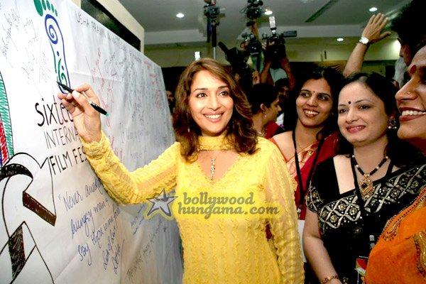 still4 - Madhuri Dixit nd Imran Khan @ college film fe