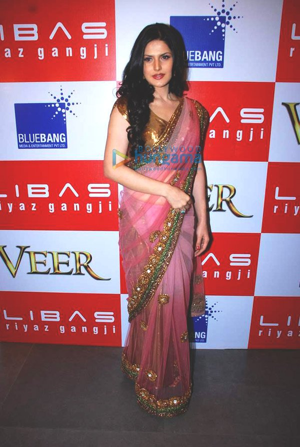 Zarine Khan at the launch of Veer Libas Collection  Zarine KhanVeer Salman Khan And Zarine Khan Kiss